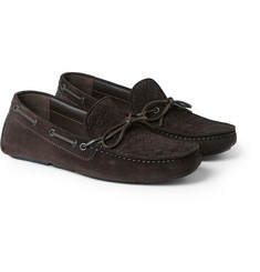 Bottega Veneta Intrecciato Suede Driving Shoes