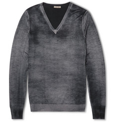 Bottega Veneta Faded Cashmere and Silk-Blend Sweater