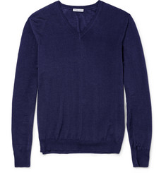 Bottega Veneta Fine-Knit Merino Wool V-Neck Sweater