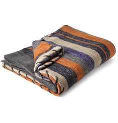 The Elder Statesman Striped Cashmere Blanket