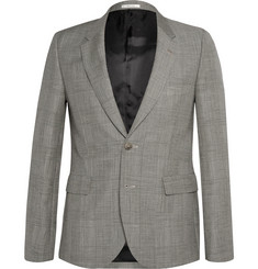 Paul Smith Grey Slim-Fit Prince of Wales Check Mohair and Wool-Blend Suit Jacket