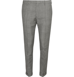 Paul Smith Grey Slim-Fit Prince of Wales Check Mohair and Wool-Blend Suit Trousers