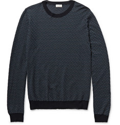Paul Smith Striped Wool and Silk-Blend Sweater