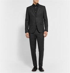 Theory Marlo Slim-Fit Marled Wool-Blend Suit Trousers
