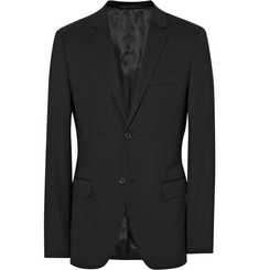 Theory Black Wellar Slim-Fit Stretch-Wool Suit Jacket