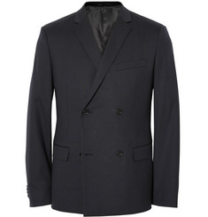 Theory Blue Wellar Slim-Fit Stretch-Wool Suit Jacket