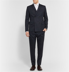 Theory Blue Felder Slim-Fit Stretch-Wool Suit Trousers