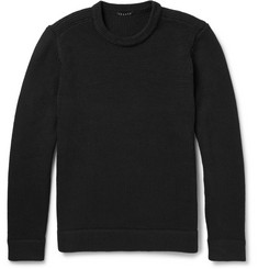 Theory Savar Textured-Knit Cotton-Blend Sweater