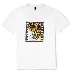 McQ Alexander McQueen Swallow-Print Crew Neck Cotton-Jersey T-Shirt