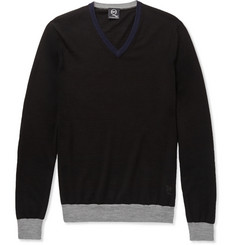 McQ Alexander McQueen Colour-Block Wool Sweater