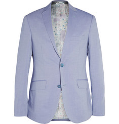 Etro Indigo Unstructured Woven-Cotton Blazer