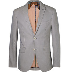 Etro Striped Cotton-Seersucker Blazer