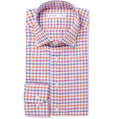 Etro Multi-Coloured Check Cotton Shirt