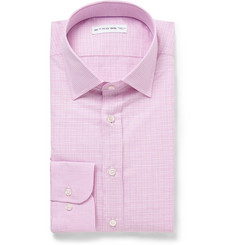 Etro Graph-Checked Cotton and Linen-Blend Shirt