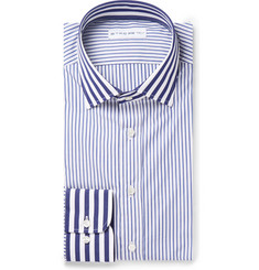 Etro Navy Striped Cotton Shirt