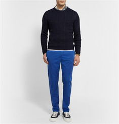 Etro Slim-Fit Cotton-Poplin Trousers