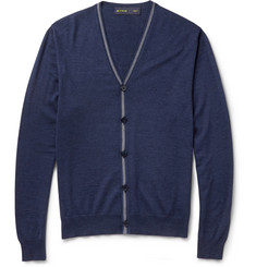 Etro Fine-Knit Wool and Silk-Blend Cardigan