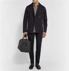 Etro Suede-Panelled Cotton-Twill Peacoat