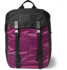 Lanvin Leather-Trimmed Satin-Panelled Backpack