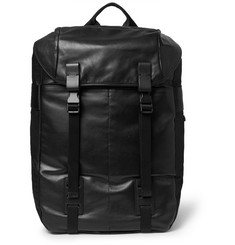 Lanvin Faille-Panelled Leather Backpack