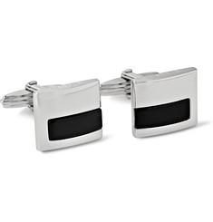 Lanvin Silver-Tone and Onyx Cufflinks