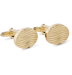Lanvin Engraved Gold-Plated Cufflinks