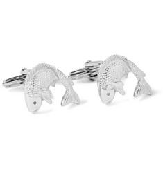 Lanvin Silver-Tone Ruthenium-Plated Fish Cufflinks