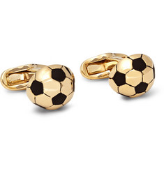 Paul Smith Shoes & Accessories Football Gold-Tone Enamelled Cufflinks