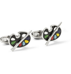Paul Smith Shoes & Accessories Paint Palette Enamelled Brass Cufflinks