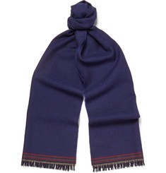 Paul Smith Shoes & Accessories Striped-Trimmed Wool Scarf