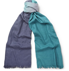 Paul Smith Shoes & Accessories Ombré Wool and Silk-Blend Scarf