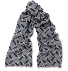 Paul Smith Shoes & Accessories Tile-Print Modal Scarf