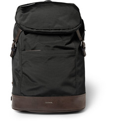 Paul Smith Shoes & Accessories Leather-Panelled Grosgrain Backpack