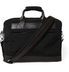 Paul Smith Shoes & Accessories Leather-Trimmed Canvas Briefcase
