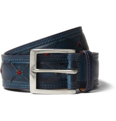Paul Smith Shoes & Accessories Navy 3.5cm Burnished-Leather Belt
