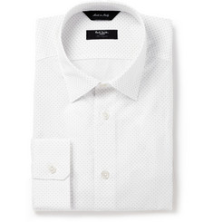 Paul Smith London White Byard Pin-Dot Cotton Shirt
