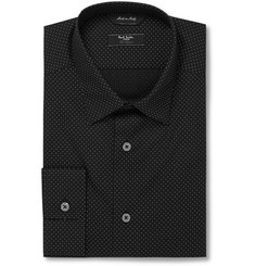 Paul Smith London Black and White Byard Pin-Dot Cotton Shirt