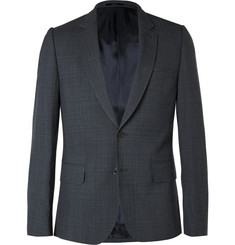 Paul Smith London Navy Slim-Fit Prince of Wales Check Wool Blazer