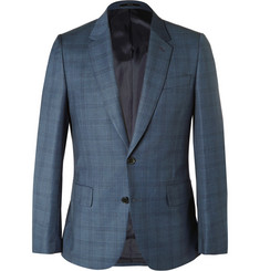 Paul Smith London Blue Soho Wool Checked Suit Jacket