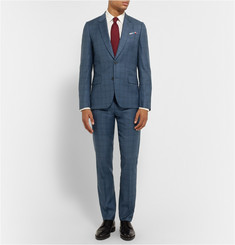 Paul Smith London Blue Soho Wool Checked Suit