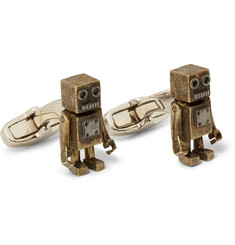 Paul Smith Shoes & Accessories Robot Burnished-Copper Cufflinks