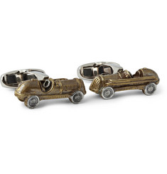 Paul Smith Shoes & Accessories Car Burnished Gold-Tone Cufflinks