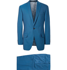 Richard James Storm-Blue Hyde Slim-Cut Wool Suit