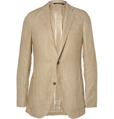 Richard James Sand Slim-Fit Unstructured Linen Suit Jacket