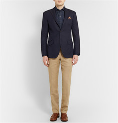Richard James Navy Seishin Slim-Fit Wool Blazer