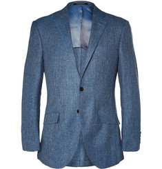 Richard James Blue Hyde Slim-Fit Silk, Linen and Wool-Blend Jacket