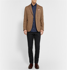 Richard James Button-Down Collar Linen Shirt