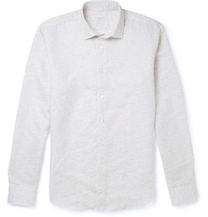 Richard James Flecked Linen and Cotton-Blend Shirt