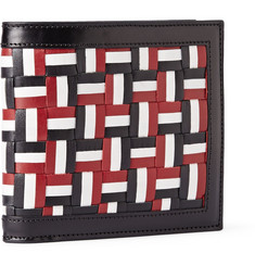 Thom Browne Woven Leather Billfold Wallet