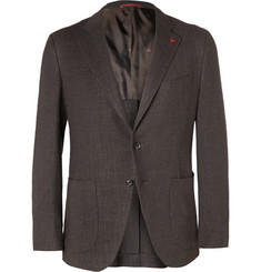 Isaia Slim-Fit Wool, Silk and Linen-Blend Jacket